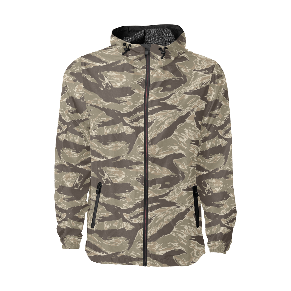 US desert Tiger stripes camouflage Windbreaker for Men