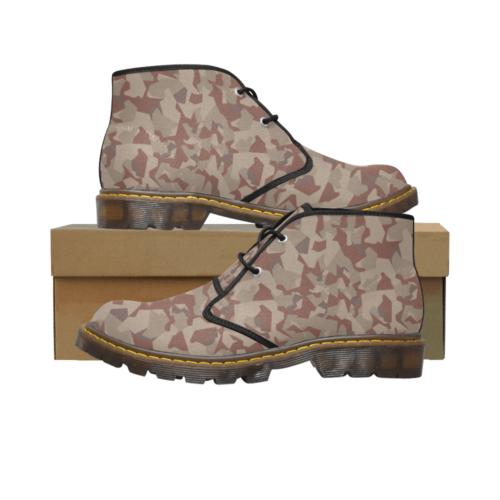 Swedish M90 Desert camouflage Men's Canvas Chukka Boots