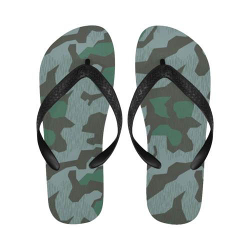 Luftwaffe Splittertarn 41 camouflage Flip Flops for Men/Women Free Shipping