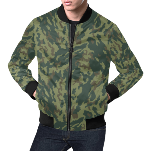 Russian VSR 3TsV Mountain Dubok Camouflage Bomber Jacket for Men