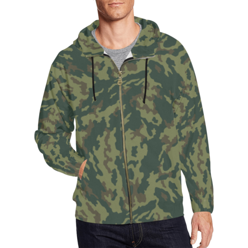 Russian VSR 3TsV Mountain Dubok Camouflage Full Zip Hoodie for Men