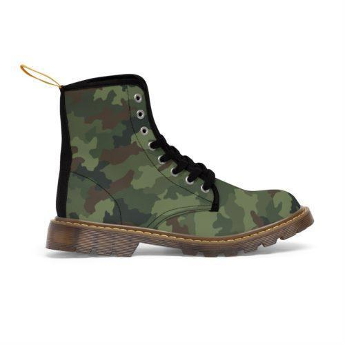 Yugoslav M89 Hrastov List Camouflage Unique and Original Men's Martin Boots Free Shipping