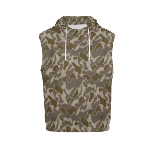 Austrian Sumpfmuster late steintarn camouflage Sleeveless Hoodie for Men
