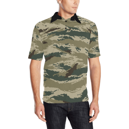 russian Kamysh arid camouflage Men's Polo Shirt