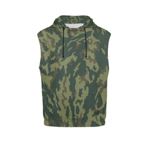 Russian VSR 3TsV Mountain Dubok Camouflage Sleeveless Hoodie for Men