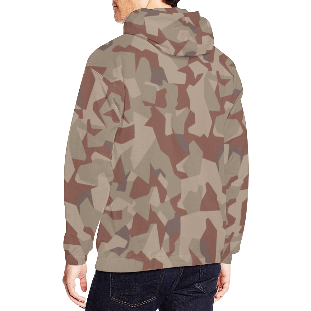 Swedish M90 Desert Camouflage Hoodie for Men