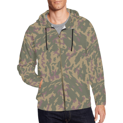 Russian VSR 3TsV Highland-Dubok Camouflage Full Zip Hoodie for Men