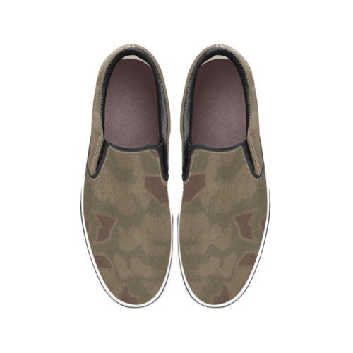 sumpfmuster 43 camouflage Men's Classic Slip-On Sneakers .
