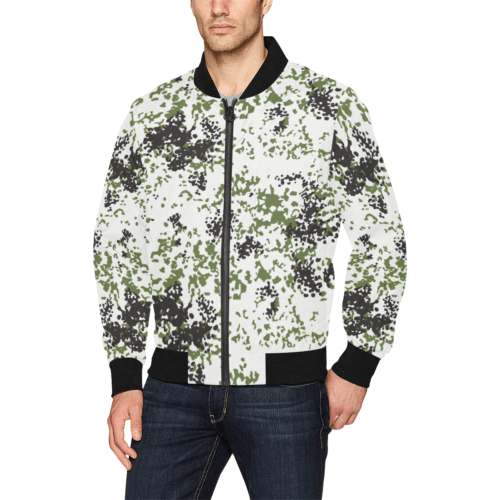 Snow Flecktarn Schneetarn Fleck camouflage Bomber Jacket for Men