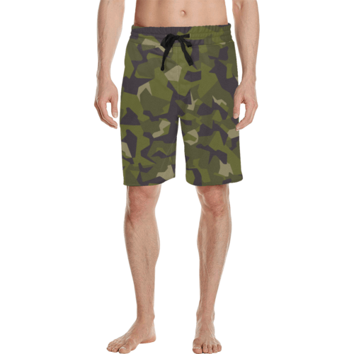 Swedish M90 woodland camouflage Men's Casual Shorts