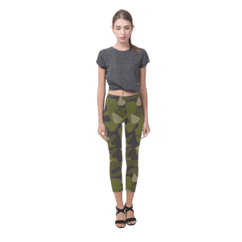 Swedish M90 woodland camouflage Capri Legging (Model L02)