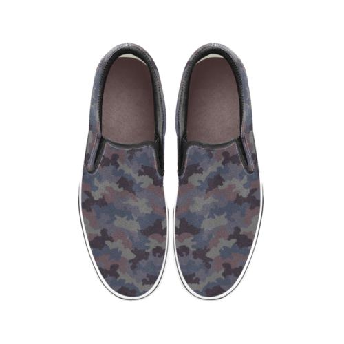 Yugoslav M85 Hrastov List urban camouflage Men's Classic Slip-On Sneakers .