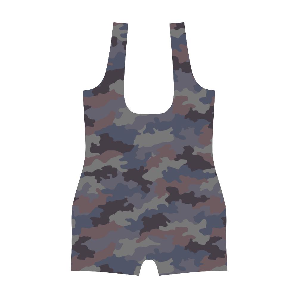 Yugoslav M89 Hrastov List urban camouflage Classic One Piece Swimwear
