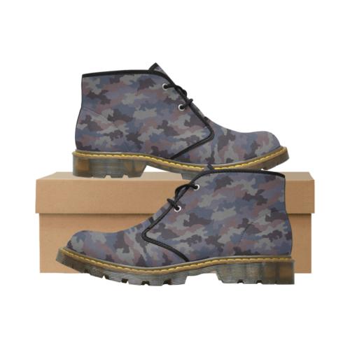 Yugoslav M85 Hrastov List urban camouflage Men's Nubuck Chukka Boots