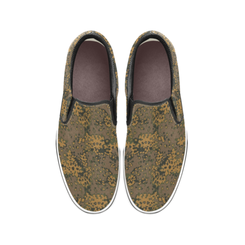 Eichenlaub Fall Camouflage Men's Classic Slip-On Sneakers .