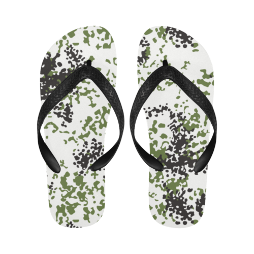 Snow Flecktarn Schneetarn Fleck camouflage Flip Flops for Men/Women Free Shipping