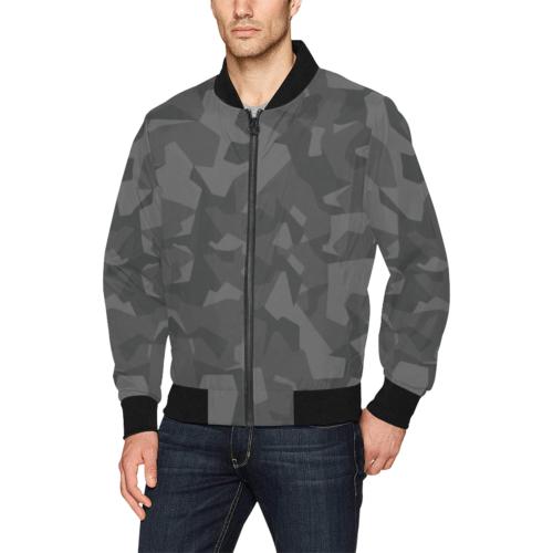 Swedish M90 Night Camouflage Bomber Jacket for Men Alternate model