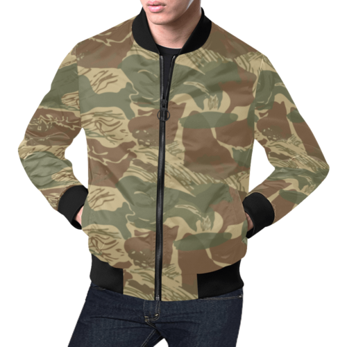 Rhodesian Brush Strokes Camouflage Bomber Jacket for men