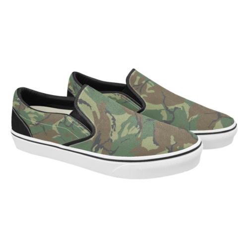 Russian woodland DPM Men's Classic Slip-On Sneakers .