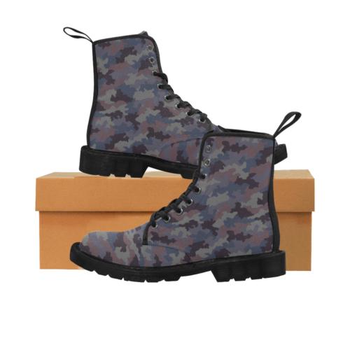 Yugoslav M85 Hrastov List urban camouflage Martin Boots for Men (Black)