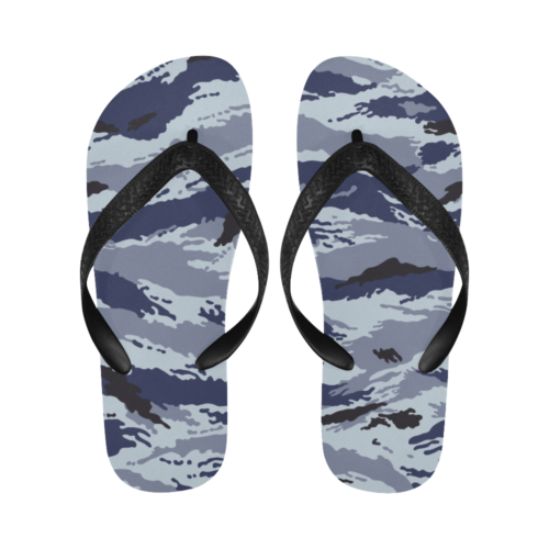 Russian omon kamysh blue Flip Flops for Men/Women Free Shipping