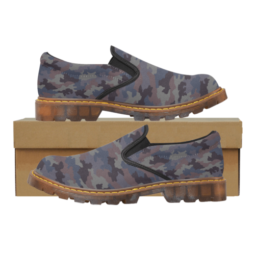 Yugoslav M85 Hrastov List urban camouflage Martin Men's Slip-On Loafer
