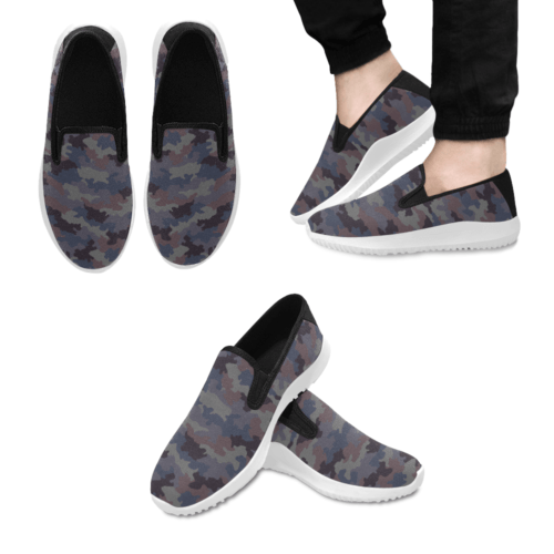 Yugoslav M85 Hrastov List urban camouflage Slip-on Men's Canvas Sneakers