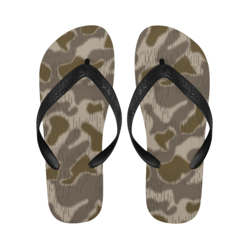 Austrian Sumpfmuster late steintarn  camouflage Flip Flops for Men/Women Free Shipping