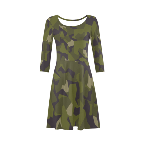 Swedish M90 woodland camouflage 3/4 Sleeve Sundress
