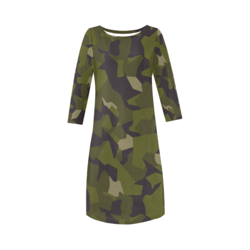 Swedish M90 woodland camouflage Round Collar Dress