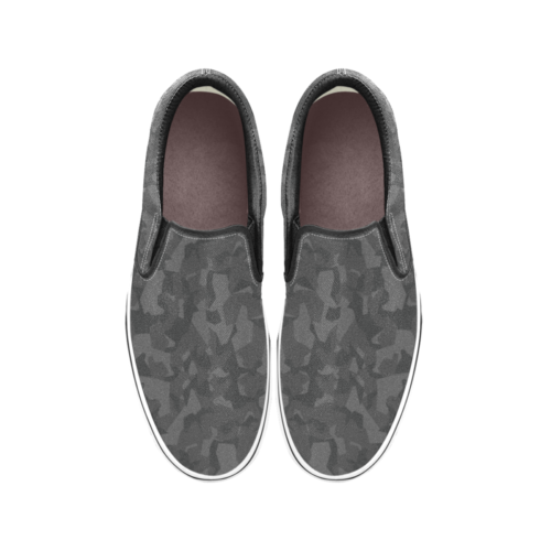 Swedish M90 Night Camouflage Men's Classic Slip-On Sneakers .