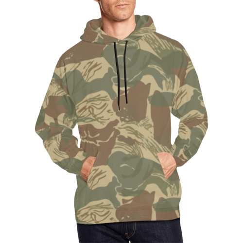 Rhodesian Brushstroke camouflage Hoodie for Men