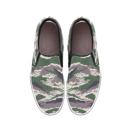 Russian Woodland Kamush Men's Classic Slip-On Sneakers .