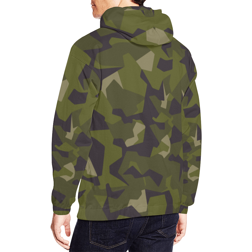 Swedish M90 woodland Camouflage Hoodie for Men