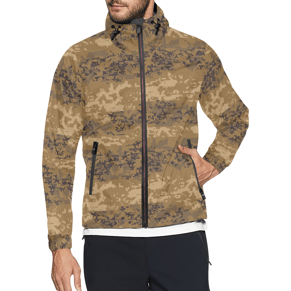 Austrian Jagdkommando pixeltarnung desert Windbreaker for Men