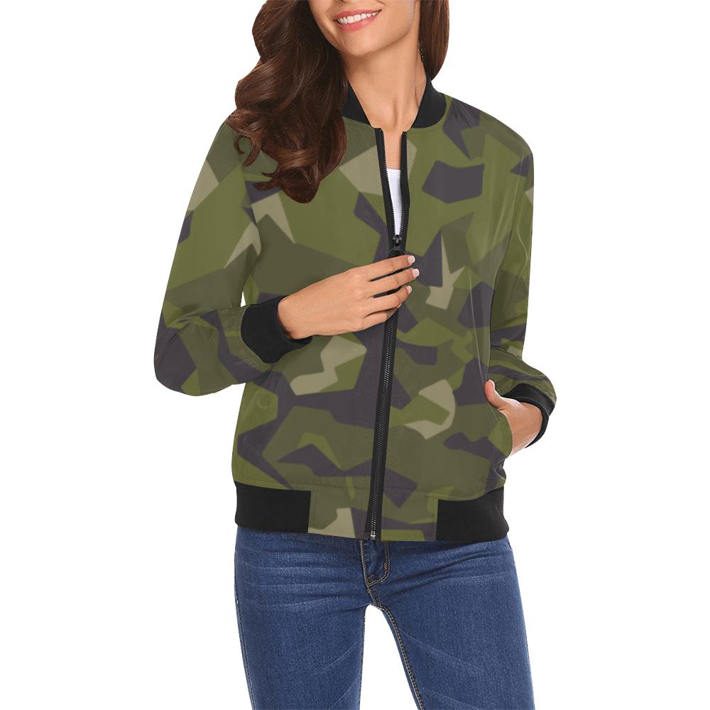 Swedish M90 woodland camouflage Bomber Jacket for Women