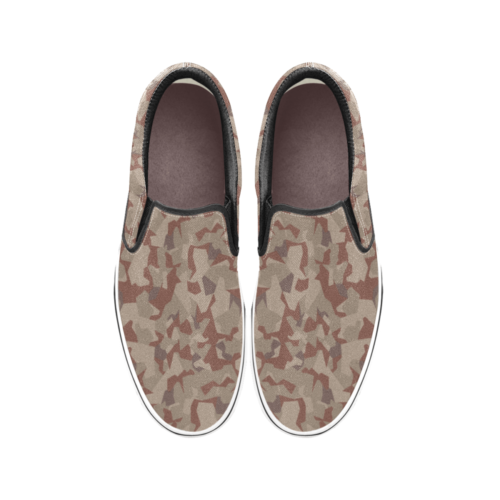 Swedish M90 Desert camouflage Men's Classic Slip-On Sneakers .