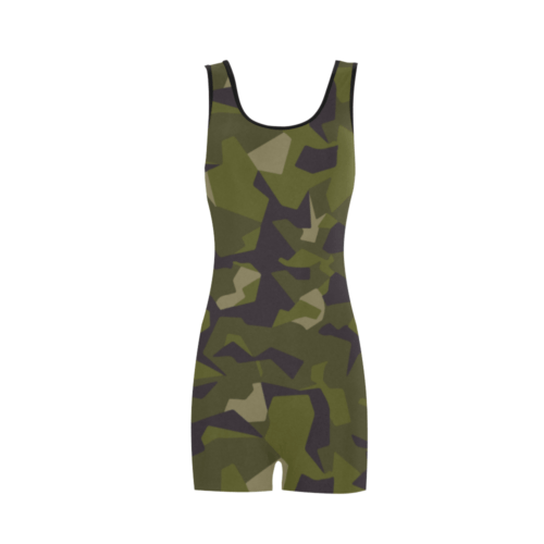 swedish M90 woodland camouflage Classic One Piece Swimwear