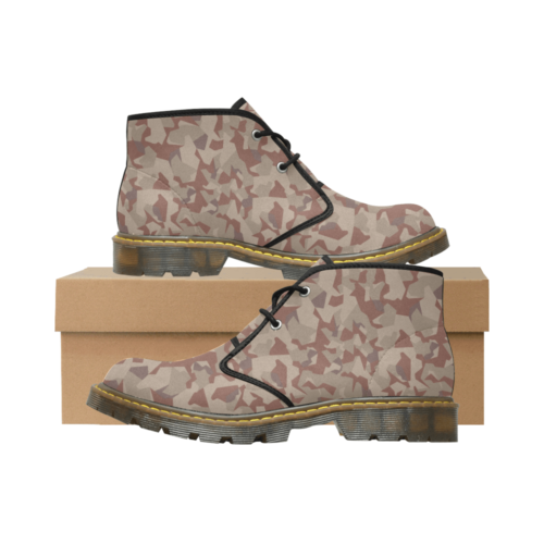 Swedish M90 Desert camouflage Men's Nubuck Chukka Boots