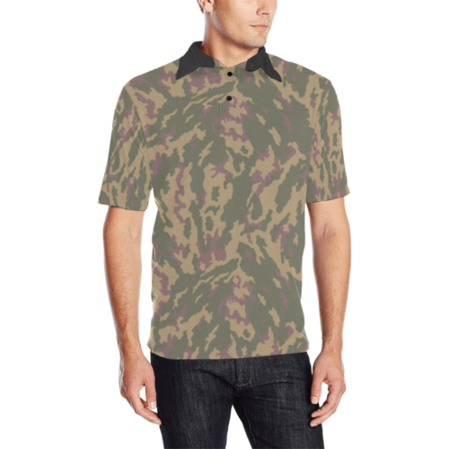 russian Highland Dubok camouflage Men's Polo Shirt