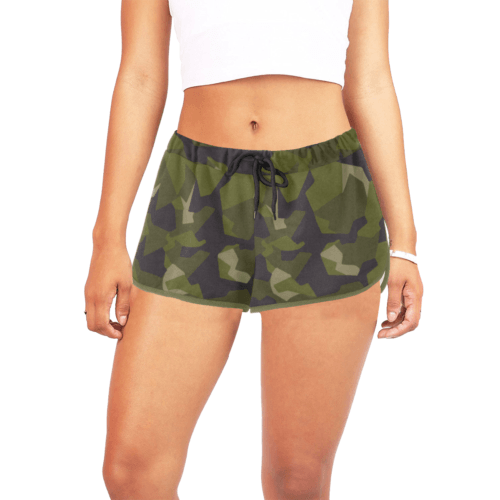 Swedish M90 woodland camouflage Women's Relaxed Shorts