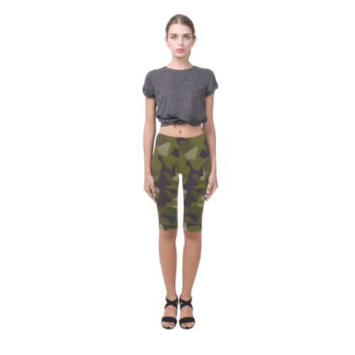 Swedish M90 woodland camouflage Hestia Cropped Leggings shorts