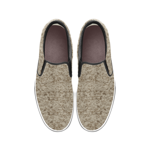 US AOR1 camouflage Men's Classic Slip-On Sneakers .