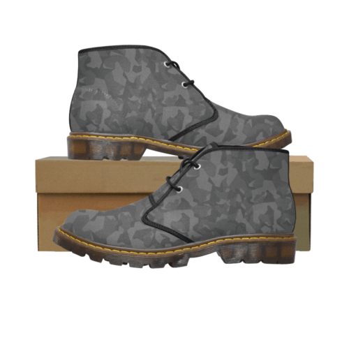 Swedish M90 Night Camouflage Men's Canvas Chukka Boots