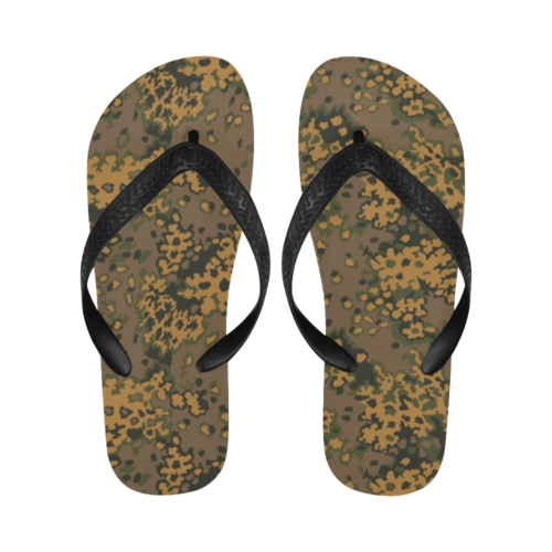 Eichenlaub fall camouflage Flip Flops for Men/Women Free Shipping