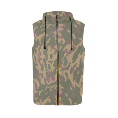 Russian VSR 3TsV Highland Dubok Camouflage Sleeveless Zip Up Hoodie for Men
