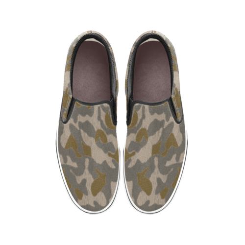 Austrian Sumpfmuster early steintarn camouflage Men's Classic Slip-On Sneakers .