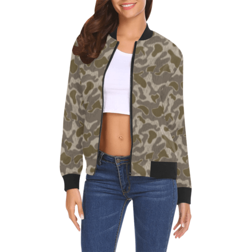 Austrian Sumpfmuster late steintarn camouflage Bomber Jacket for Women