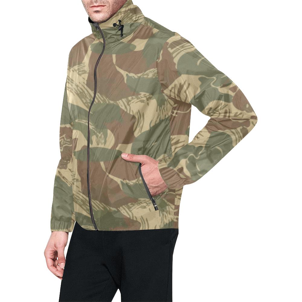 Rhodesian Brushstroke Camouflage Windbreaker for Men