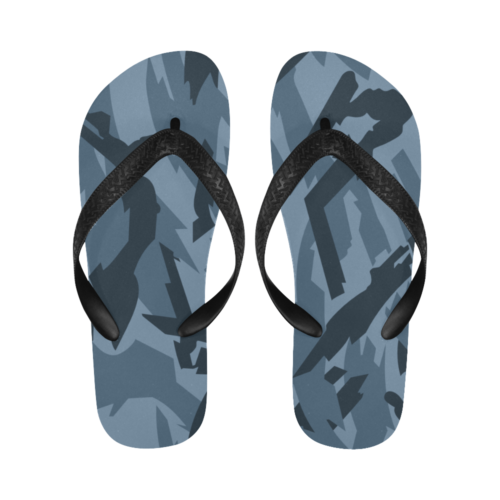 Russian urban blue Flip Flops for Men/Women Free Shipping
